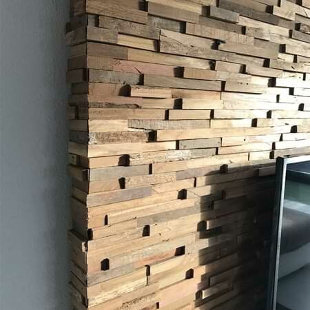 Wandpaneele aus Teak - Holz Wandverkleidung