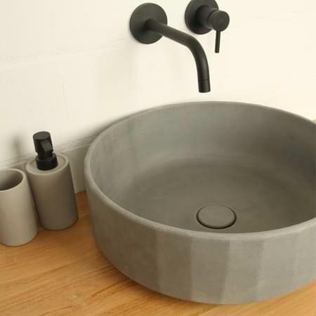 Steinwaschbecken, Aufsatzwaschbecken und Schalen