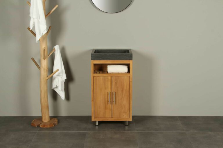 Bademöbel Raung Cabinet Teakholz Bluestone 50 cm zk