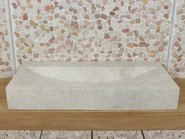 Marmor Waschbecken 100 cm BE-4001 LW/ZK