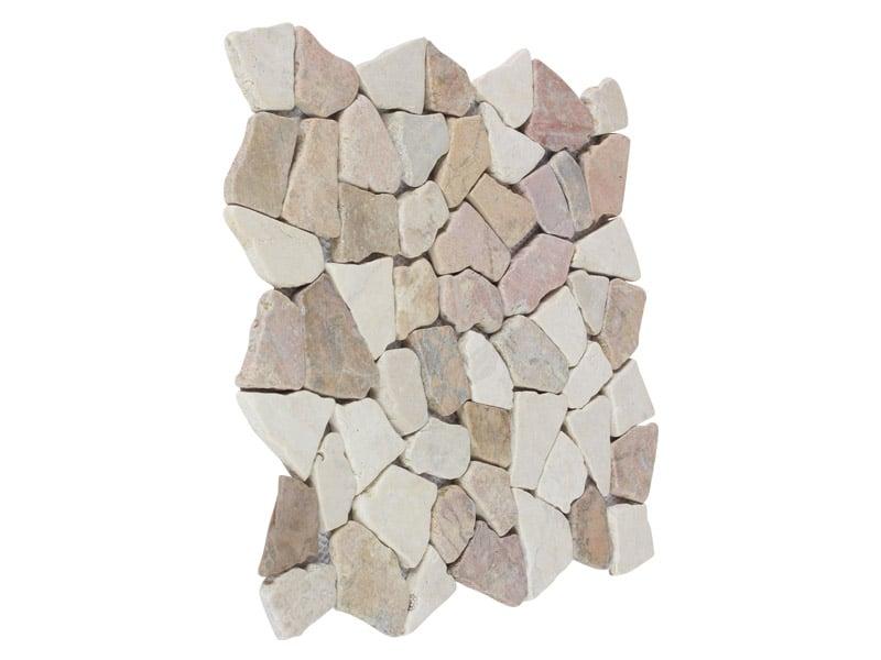 Mosaikfliesen Weiß-Rot 29