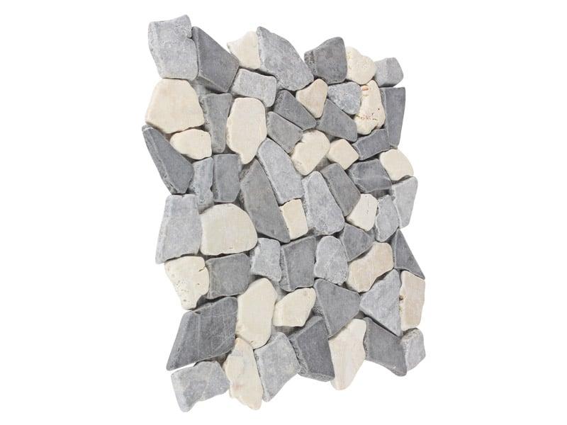 Mosaikfliesen Bruchstein Weiß-Lichtgrau-Grau29