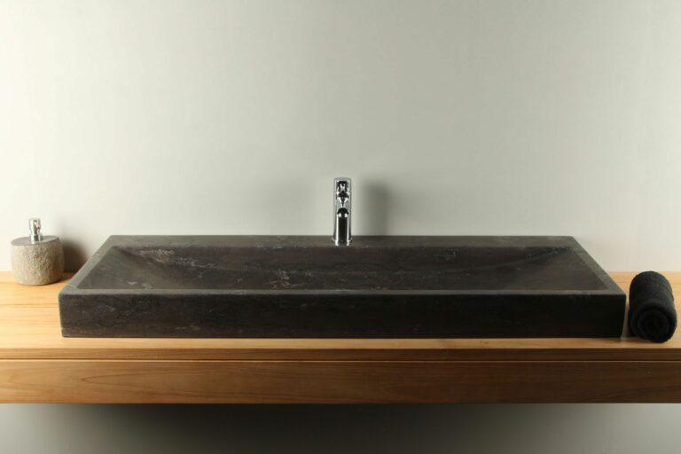 Naturstein Waschbecken 140 cm Handwaschbecken BE-032-1k