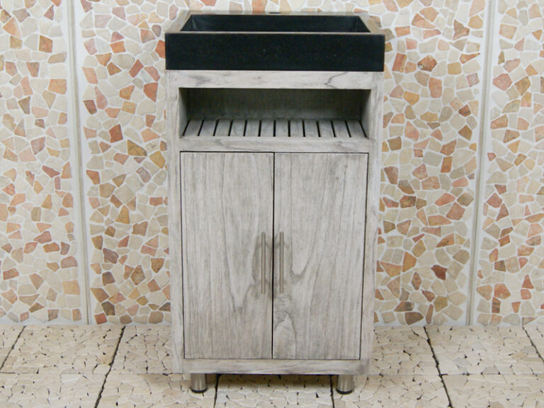 Badezimmermöbel Raung Cabinet Mindyholz 50 cm. Terrazzo