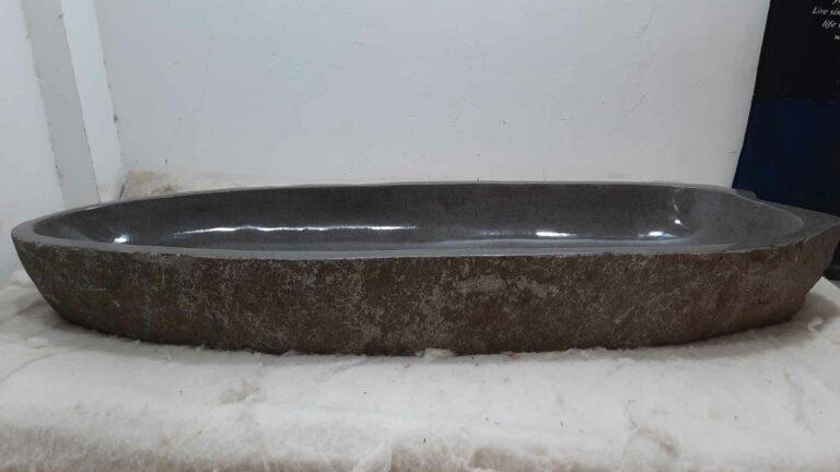 Aufsatzwaschbecken aus Flussstein RXXL0612