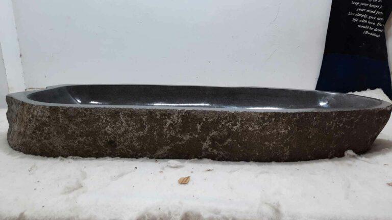 Aufsatzwaschbecken aus Flussstein RXXL0613