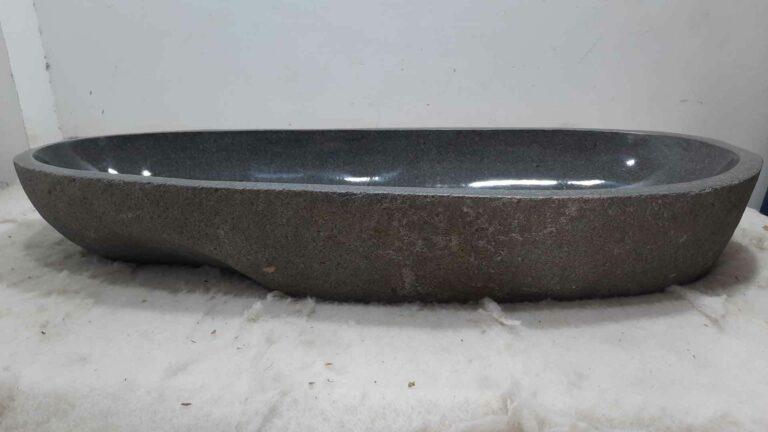 Aufsatzwaschbecken aus Flussstein RXXL0709