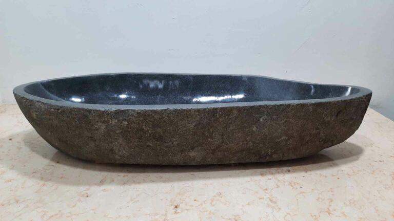 Aufsatzwaschbecken aus Flussstein RXXL210720