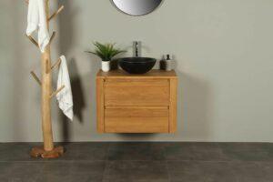 Waschtischunterschrank Hängeschrank Sukaria 80 cm mit Schubladen