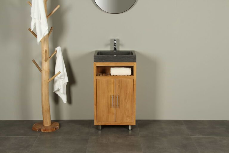 Bademöbel Raung Cabinet Teakholz Bluestone 50 cm mk