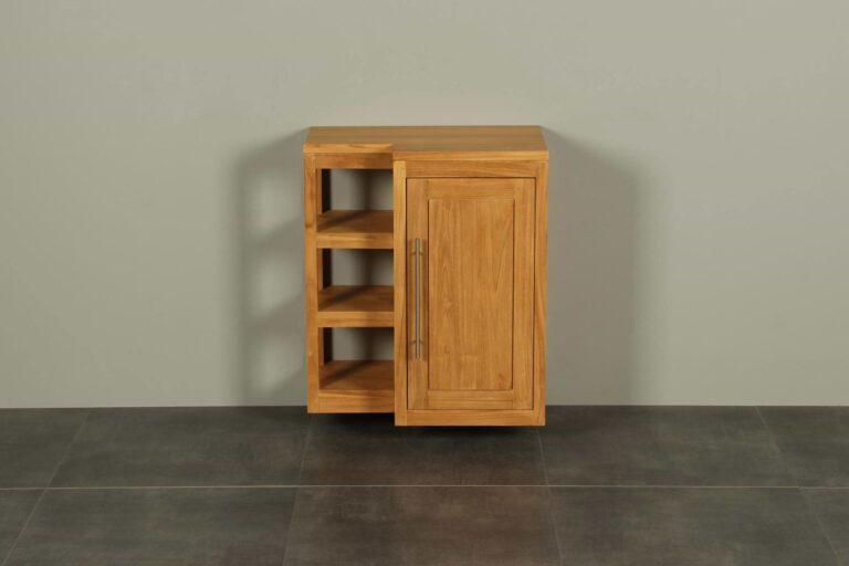 WC-Möbel Hängeschrank Kerinci Teakholz 60 cm Tür Rechts