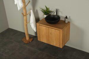 Waschtischunterschrank Hängeschrank Sukaria 75 cm mit Türen