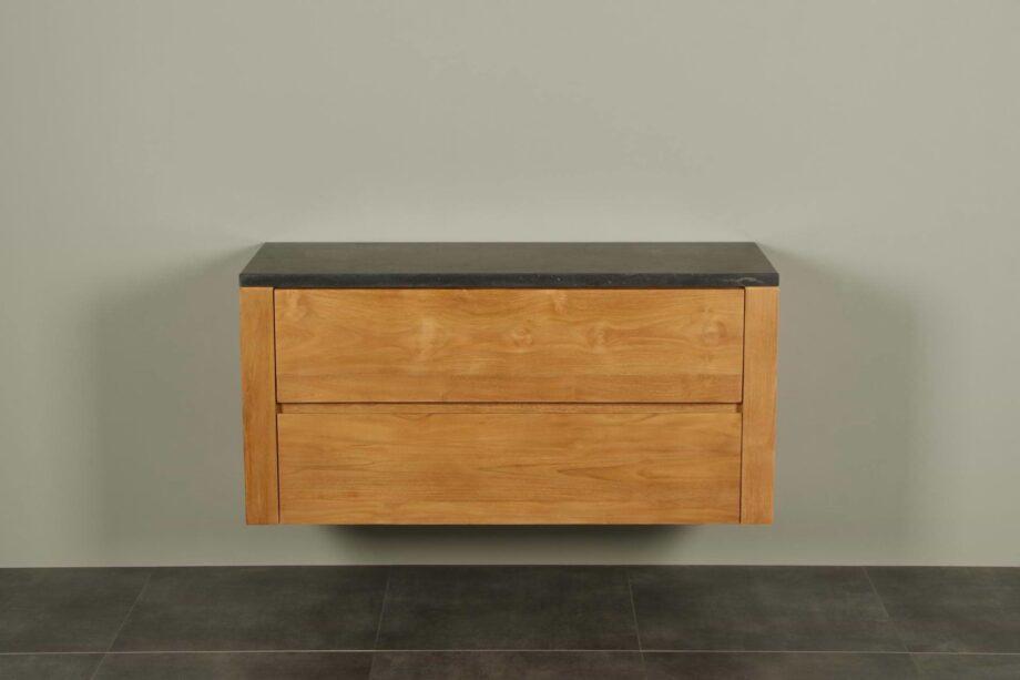 Badmöbel Teakholz Batur 120 cm mit Hartstein Tischplatte