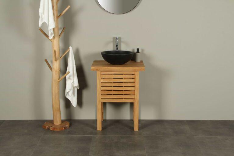 Waschtischunterschrank Teak Leuser Waschtisch 63 cm