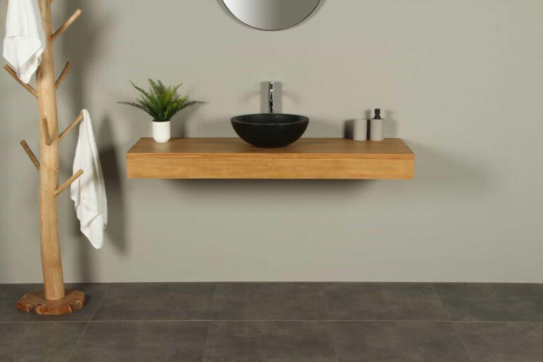 Teak Tischplatte Hängeschrank  Organic 140 cm
