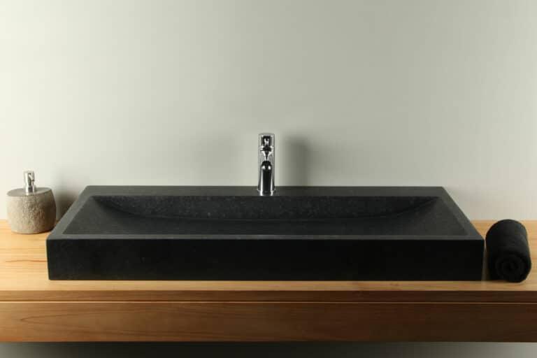 Basaltstein Waschbecken 100 cm BAS-003-1k