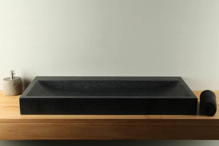 Basaltstein Waschbecken 100 cm BAS-003zk