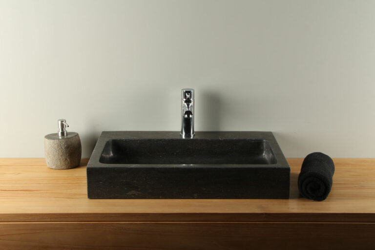 Naturstein Waschbecken 60 cm Aufsatzwaschbecken BE-904mk