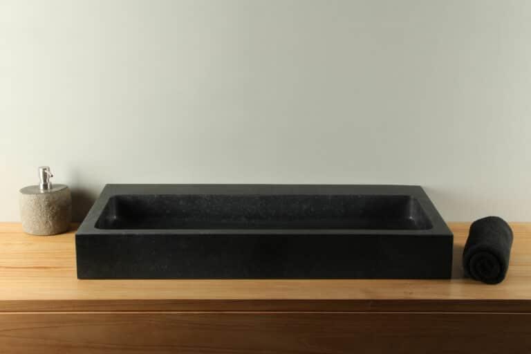 Waschtisch Basaltstein BAS-007zk 80 cm