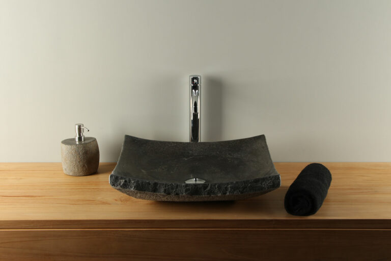 Chinesische Hartstein Waschschale 46 cm BE-025zk