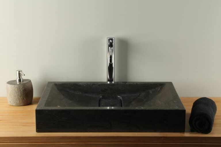Waschbecken Naturstein 60 cm BE-002zk Bluestone Handwaschbecken