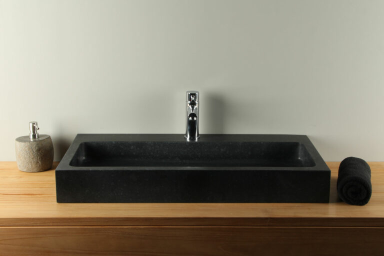 Basaltstein Waschbecken BAS-007mk 80 cm