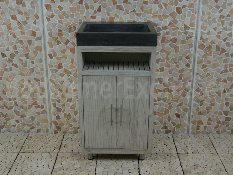 Badmöbel Raung Cabinet Mindyholz 50 cm. Bluestone