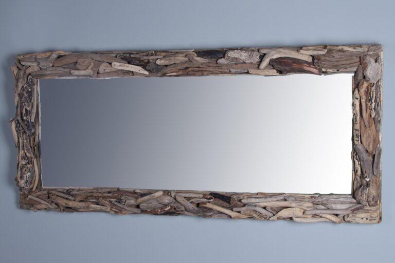 Treibgut Treibholz-Spiegel 180x80 cm.