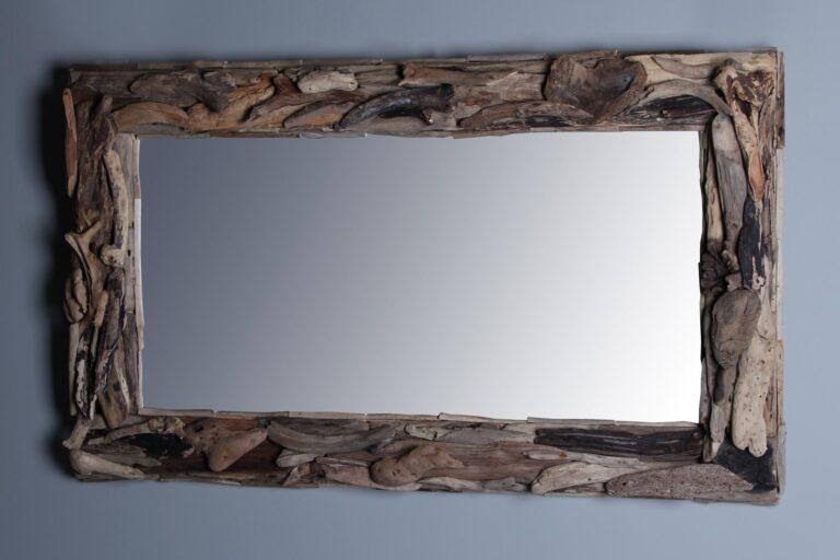 treibholz-Spiegel 100x60 cm.