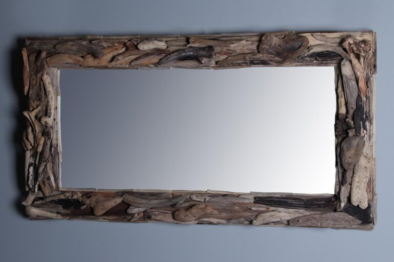 Treibgut Treibholz-Spiegel 120x70 cm.