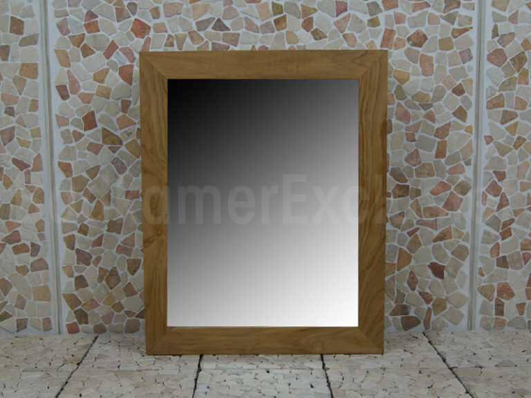 Spiegelschrank Hängeschrank Teakholz 75x60x12