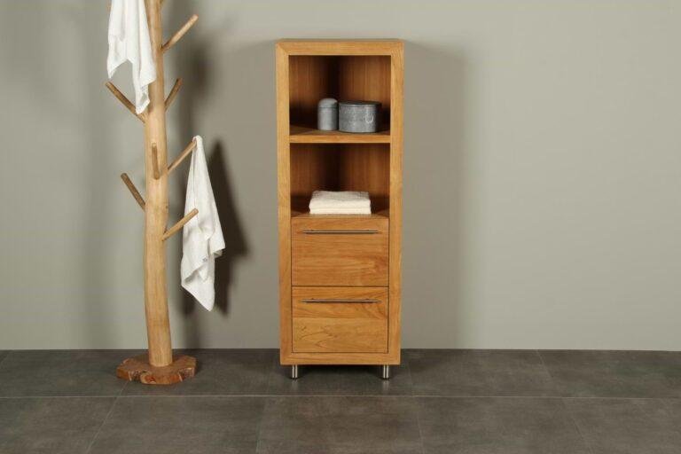 Hochschrank Badezimmermöbel Sumbing Cabinet 140 cm