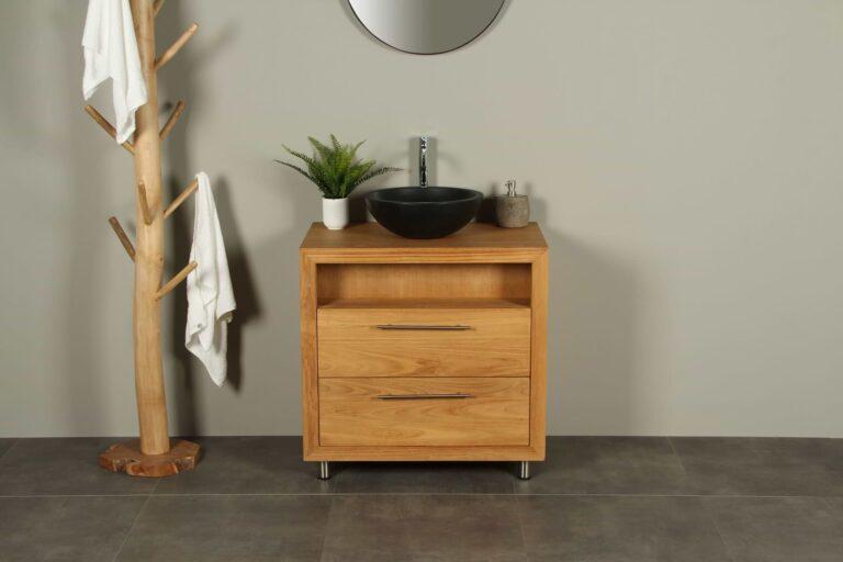 Waschtischunterschrank Sinabung Teak Cabinet 80 cm