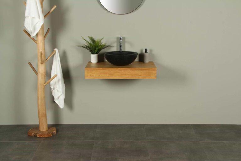 Teakholz Waschbecken Tischplatte Organic 80 cm