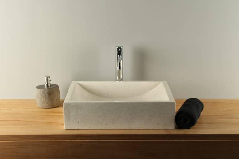 Waschbecken Terrazzo Creme 50 cm TZS015