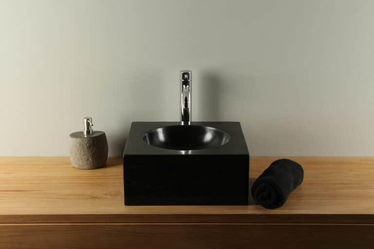 Aufsatzwaschbecken 35 cm aus Terrazzo TZS 035S