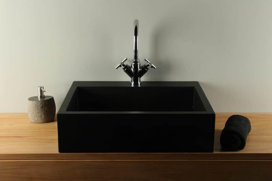 Aufsatzwaschbecken 60 cm Handwaschbecken Terrazzo TZS GLGmk