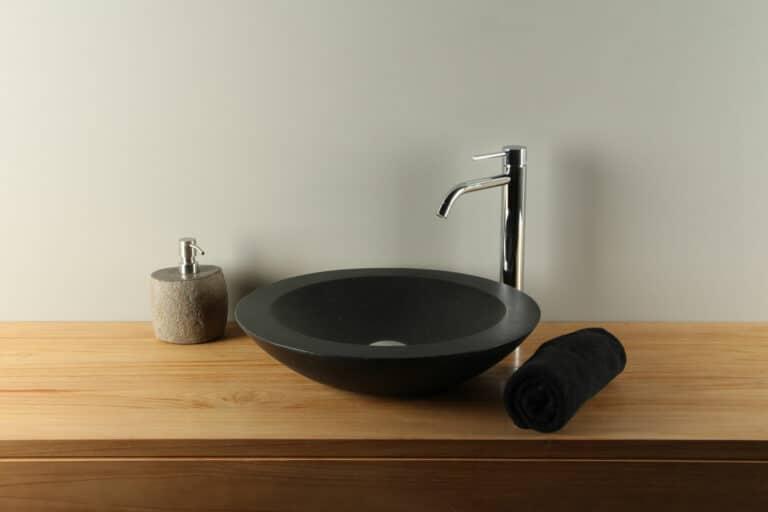 Waschtisch Ø 45 cm Terrazzo Waschschale TZS 017S