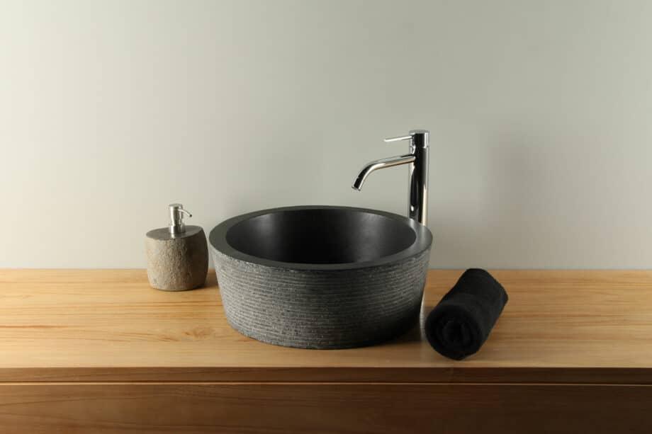 Handwaschbecken Ø 40 cm Terrazzo Waschschale TZS 025SL