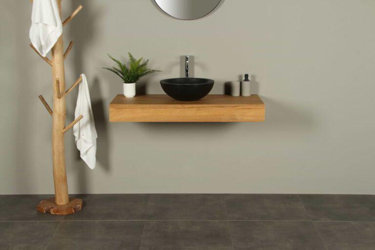 Tischplatte Teakholz für Waschbecken Organic 110 cm