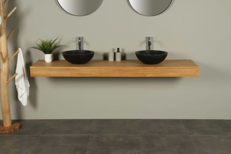 Waschbecken Tischplatte Teakholz Organic 200 cm