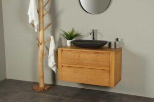 Waschtischunterschrank Hängeschrank Sukaria 100 cm mit Schubladen