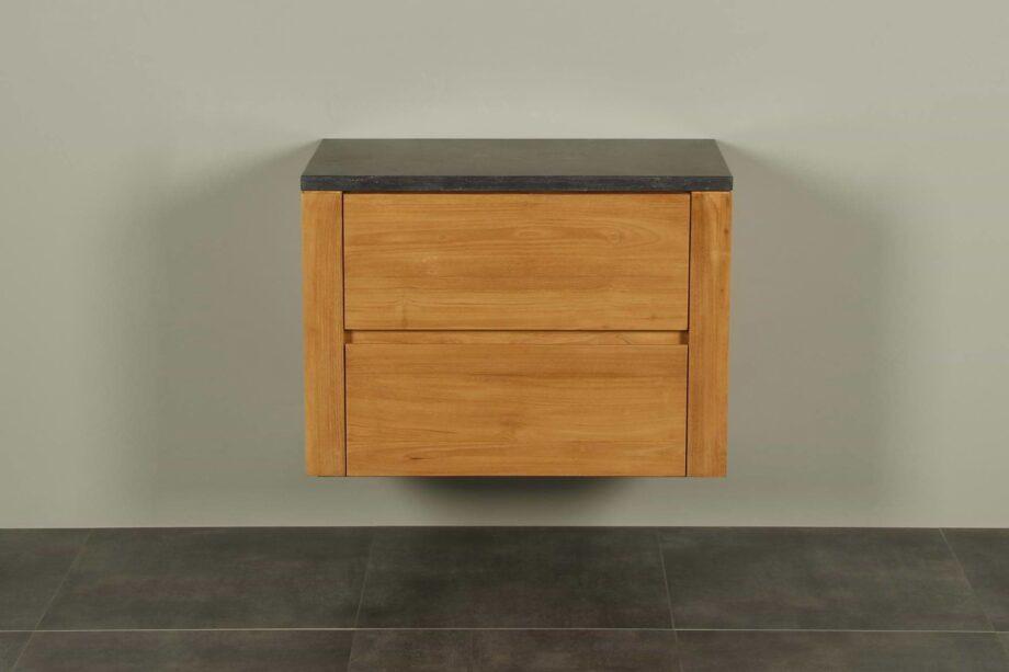 Badmöbel Teakholz Batur 80 cm mit Hartstein Tischplatte